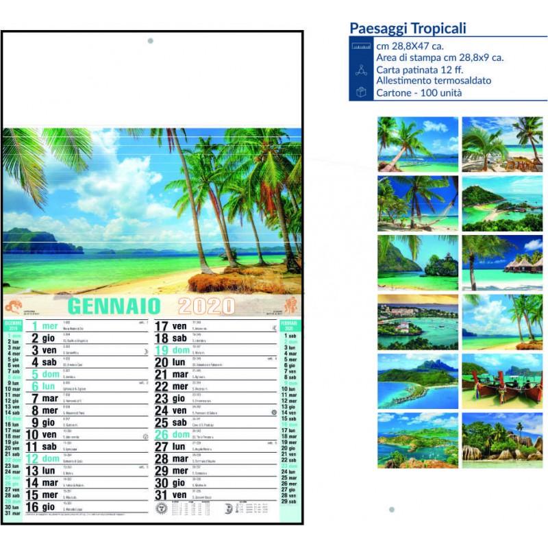 Calendario paesaggi tropicali