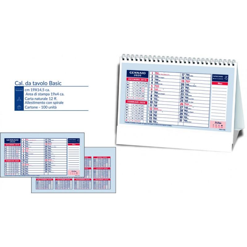 Calendarietto da tavolo