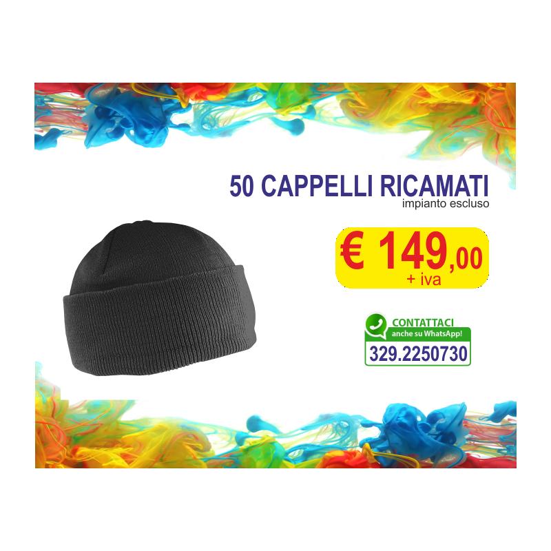 Cappelli ricamati (50 pz)