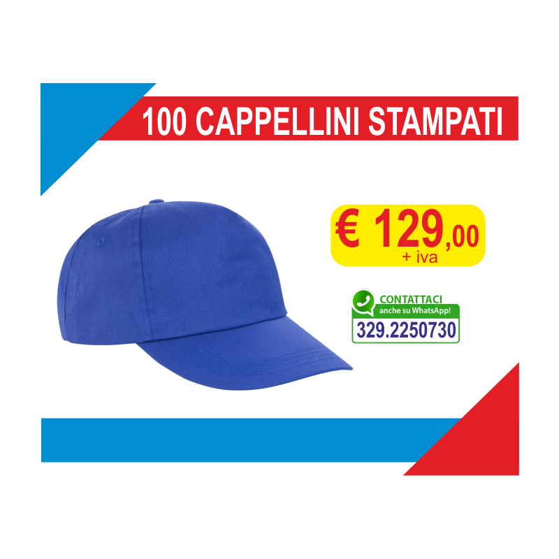 Cappellini stampati (100 pz)